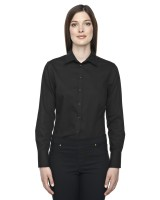 Ladies Boulevard Wrinkle Free Taped Shirt with Oxford Twill