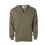 Adult Midweight Zip Hooded Sweatshirt