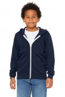 Youth Poly-Cotton Fleece Full Zip Hoodie