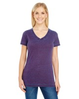 Ladies' Cross Dye Short-Sleeve V-Neck T-Shirt