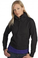 Ladies Junior Fit High Collar Full-Zip Hoody
