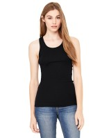 Ladies' Sheer Mini Rib Raceback Tank