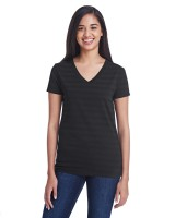 Ladies' Invisible Stripe V-Neck T-Shirt
