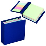250 Sheet Memo Book With 125 Sticky Notes