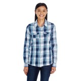 Ladies' Long Sleeve Plaid