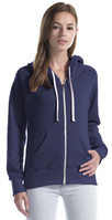 Ladies' Three-End Bamboo Fleece Full Zip Hooded Sweatshirt