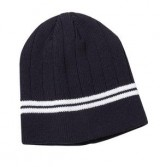 Drop Needle Knit Beanie