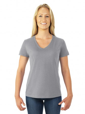 0f5154f0 Fruit of the Loom. Style#: L39VR. Heavy Cotton HD Ladies V-Neck T-Shirt
