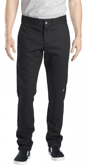 Skinny Straight Fit Double Knee Work Pant