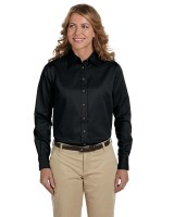 Ladies Long Sleeve Twill Shirt with Stain Release