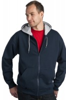 Two Tone Full Zip Sweatshirt