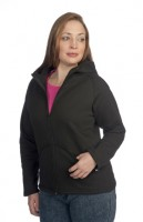 Ladies High Collar Open-Bottom Full-Zip Hoody