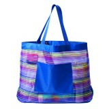 The Socialite Mesh Stripe Tote Bag