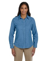 Ladies Long-Sleeve Denim Shirt