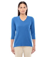 Ladies Perfect Fit Bracelet Length V-Neck Top