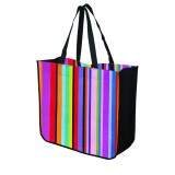 Large Multi-Stripe Recycled Tote