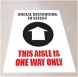 Social Distancing Floor Graphics - One Way Aisle