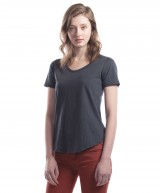 Ladies' Bamboo Relaxed Fit Scoop Bottom T-Shirt
