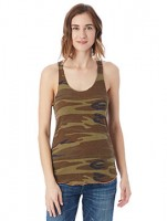 Ladies' Eco Jersey Triblend Meegs Printed Racerback Fashion Tank