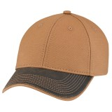 Weathered Polycotton Duck Canvas Full Fit Cap