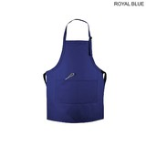 Twill Imported Bib Apron with 2 Pockets