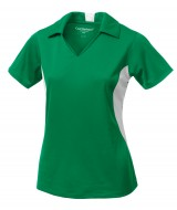 Snag Resistant Tricot Colour Block Ladies' Sport Shirt