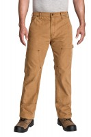 Relaxed Fit Double Front Brushed Duck Pant
