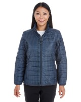 Ladies Portal Interactive Printed Packable Puffer