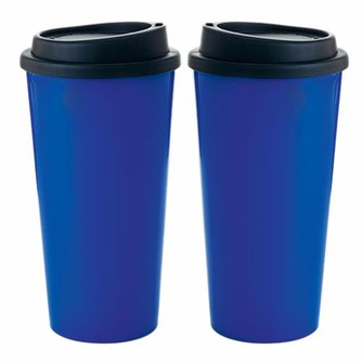 Double Wall PP Tumbler with Black Lid - 17oz