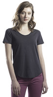 Ladies' Relaxed Fit Scoop Bottom T-Shirt