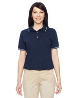 Ladies Tipped Easy Blend Polo