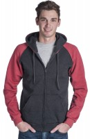 Adult Retro Full Zip Hooded Sweatshirt