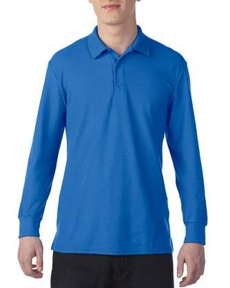 DryBlend Adult Double Pique Long Sleeve Sport Shirt