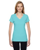 Ladies' Sofspun Jersey Junior V-Neck T-Shirt