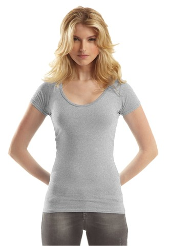 Bamboo Deep Scoop Neck T