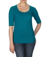 Triblend Deep Scoop Neck Half-Sleeve