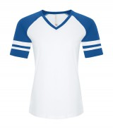 Eurospun Ring Spun Baseball Ladies' Tee
