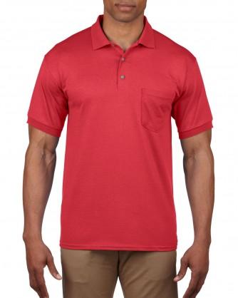 Short sleeve polo shirt with pocket 8900 gildan for Short sleeve polo shirt with pocket