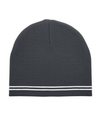 Double Stripe Knit Beanie