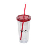 709 ml. (24 oz.) Double Walled Tumbler With Straw