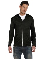 Men's Eco Jersey Triblend Long-Sleeve Full Zip Fashion Hoodie