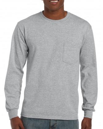 994b42027a5 Long Sleeve T-Shirt with Pocket - 2410 - Gildan - Printed Shirts
