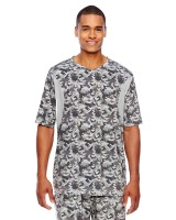 Short-Sleeve Athletic V-Neck All Sport Sublimated Camo Jersey