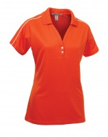 Ladies' Textured Sport Shirt With Piping